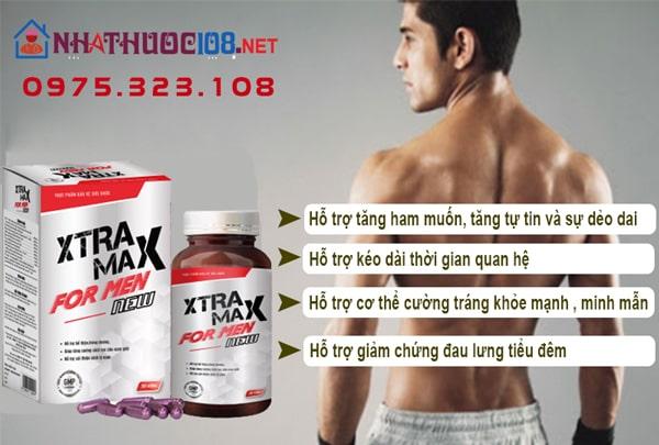 Xtramax For Men có tác dụng gì?