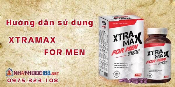 Hướng dẫn sử dụng Xtramax For Men hiệu quả