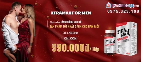Viên uống Xtramax For Men giá bao nhiêu?