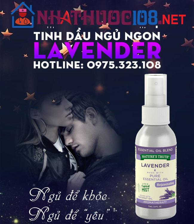 Tinh dầu ngủ ngon Lavender chiết xuất hoa oải hương
