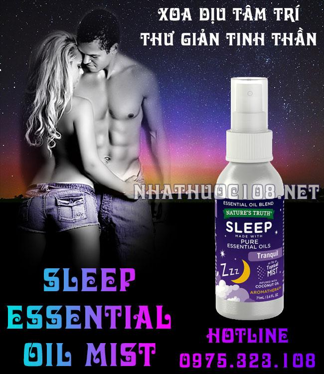 Tinh dầu Sleep Essential Oil Mist giúp ngủ ngon cho đêm thăng hoa