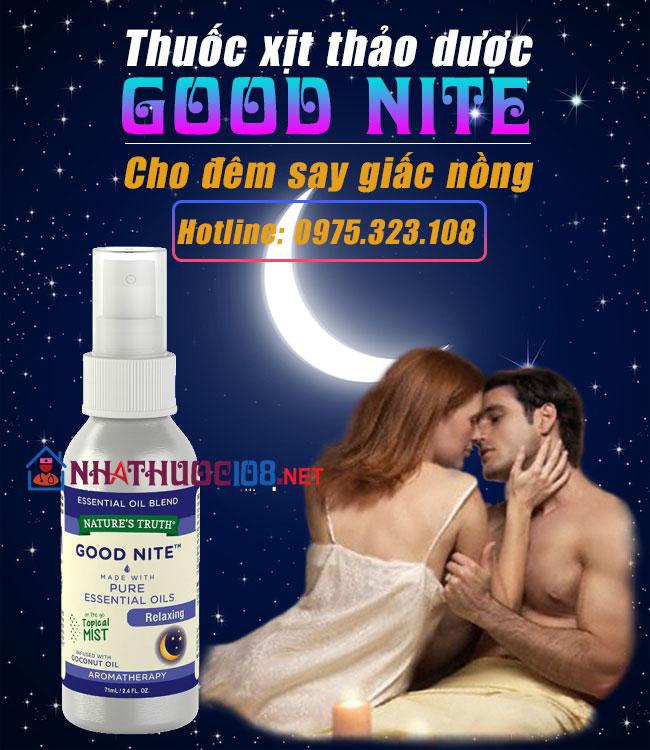 Thuốc xịt thảo dược Good Nite cho đêm thăng hoa - Made In USA