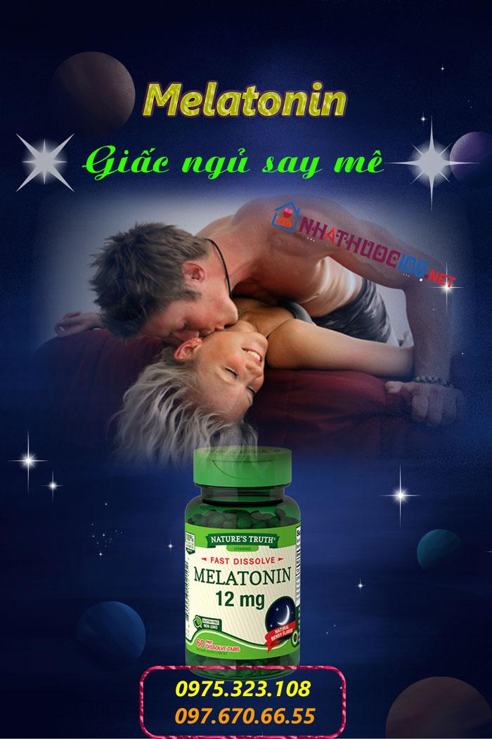 Thuốc trị mất ngủ dạng viên Melatonin