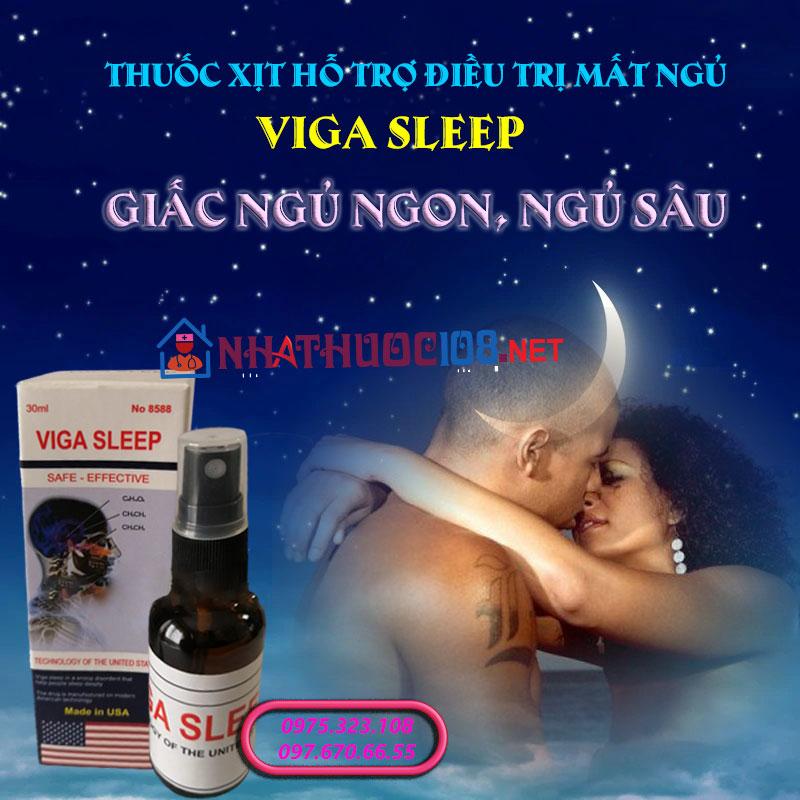 hỗ trợ điều trị mất ngủ Viga Sleep