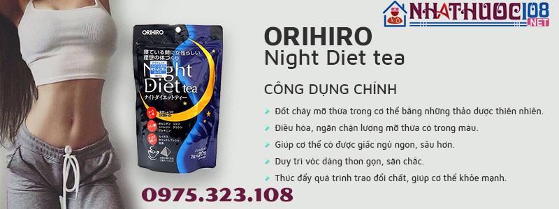 công dụng Orihiro Night Diet Tea