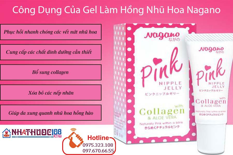 Công dụng nagano pink nipple jelly